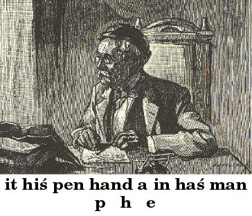 Man with glasses writing at a desk
