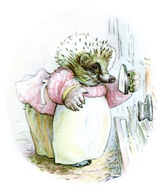 Mrs. Tiggy-winkle checking irons